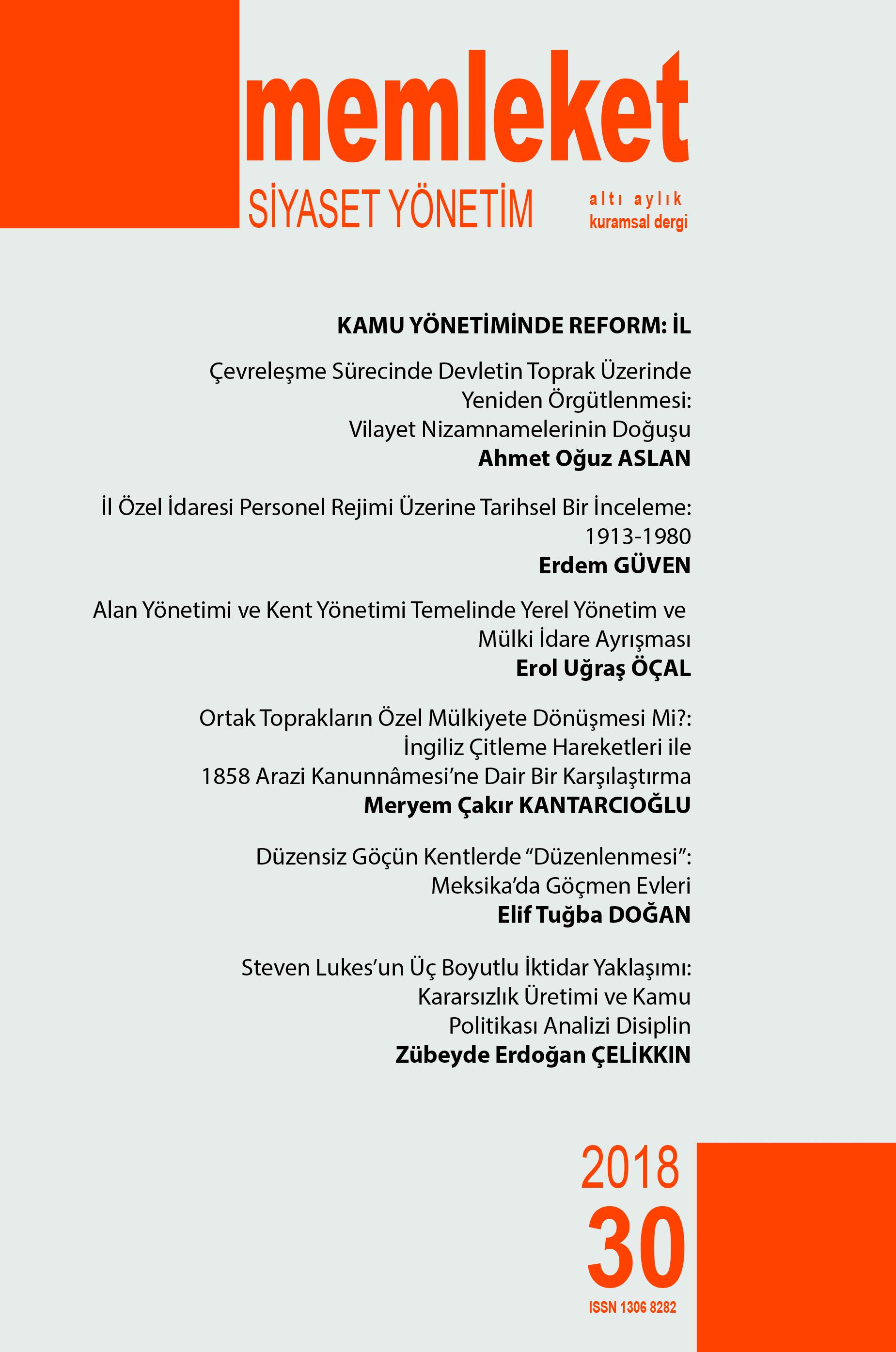 Memleket Siyaset Yönetim (MSY) Dergimizin 30. Sayısı Çıktı.